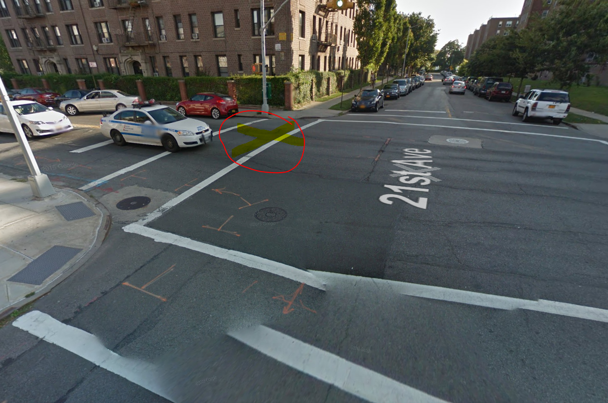 intersection of 21st Ave and Cropsey Ave