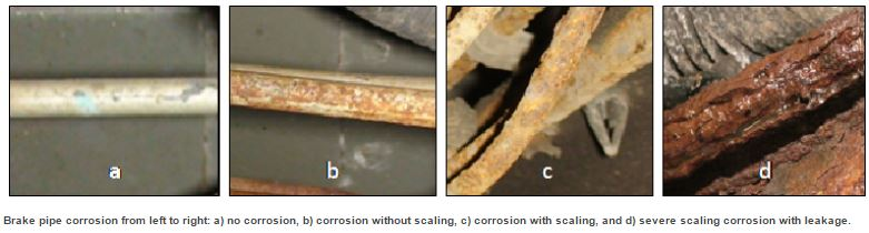 Brake corrosion can lead to traffic accidents