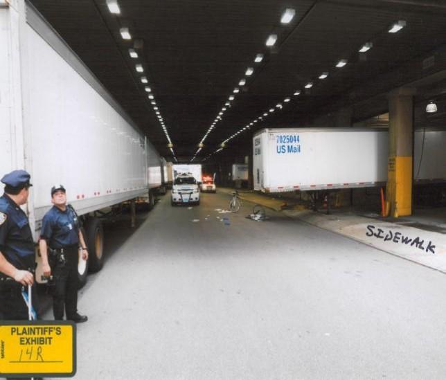 plaintiff Exhibit Truck Bicycke Accident
