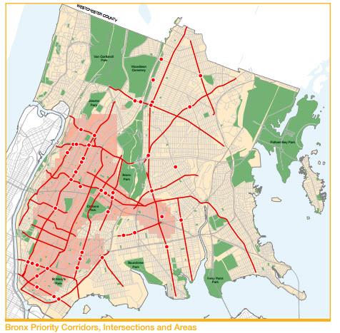 Bronx Pedestrian Safety Map