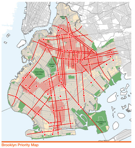 Brooklyn pedestrian safety map