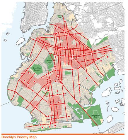 Brooklyn pedestrian safety map