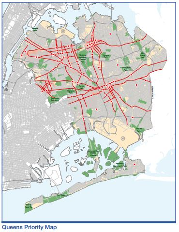 Queens Pedestrain Safety Map