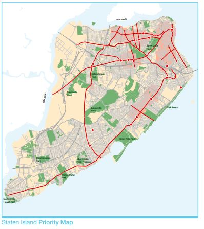 Staten Island Pedestrian Safety map