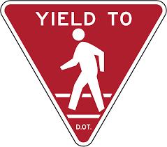 yield to pedestrians