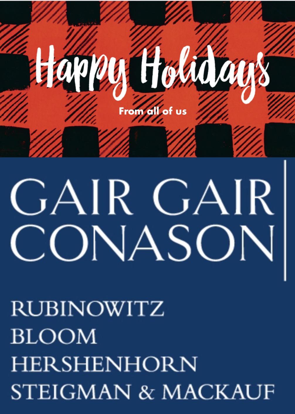 Gair Gair Happy Holidays 2015