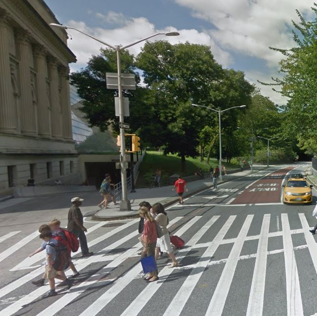 new york taxi accident location