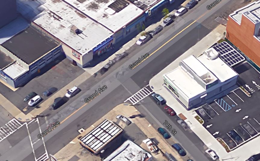 pedestrian accident location