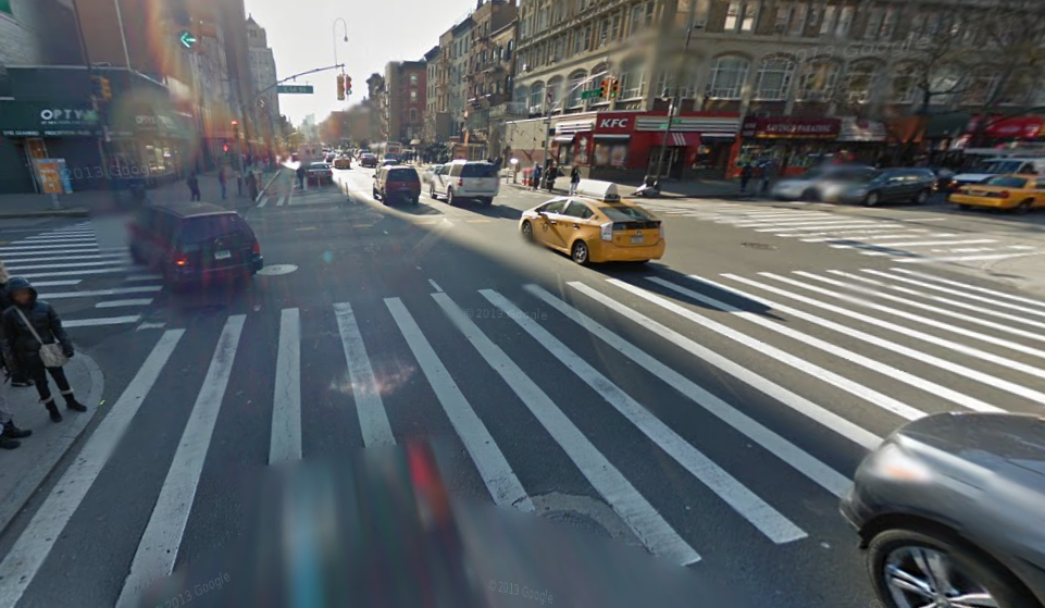 NYC pedestrian accident location