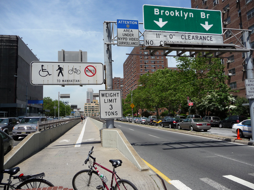 Brooklyn Bridge Bike Lane