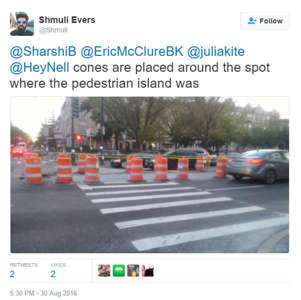 removal of pedestrian islands in NYC