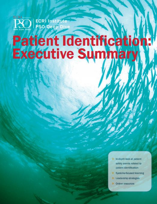 Patient identification : executive summary cover