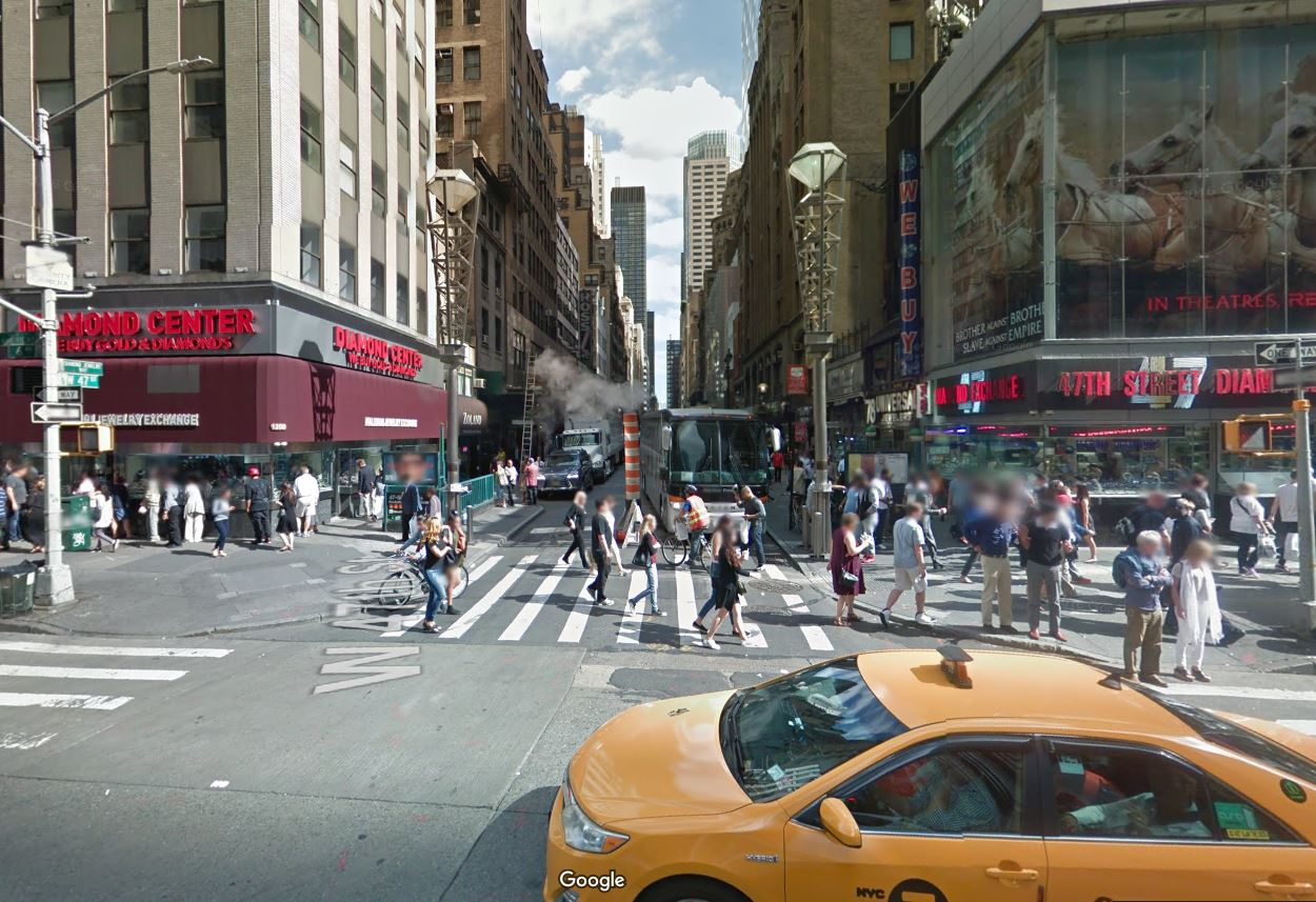 location of the accident 6th Ave and 47th Street