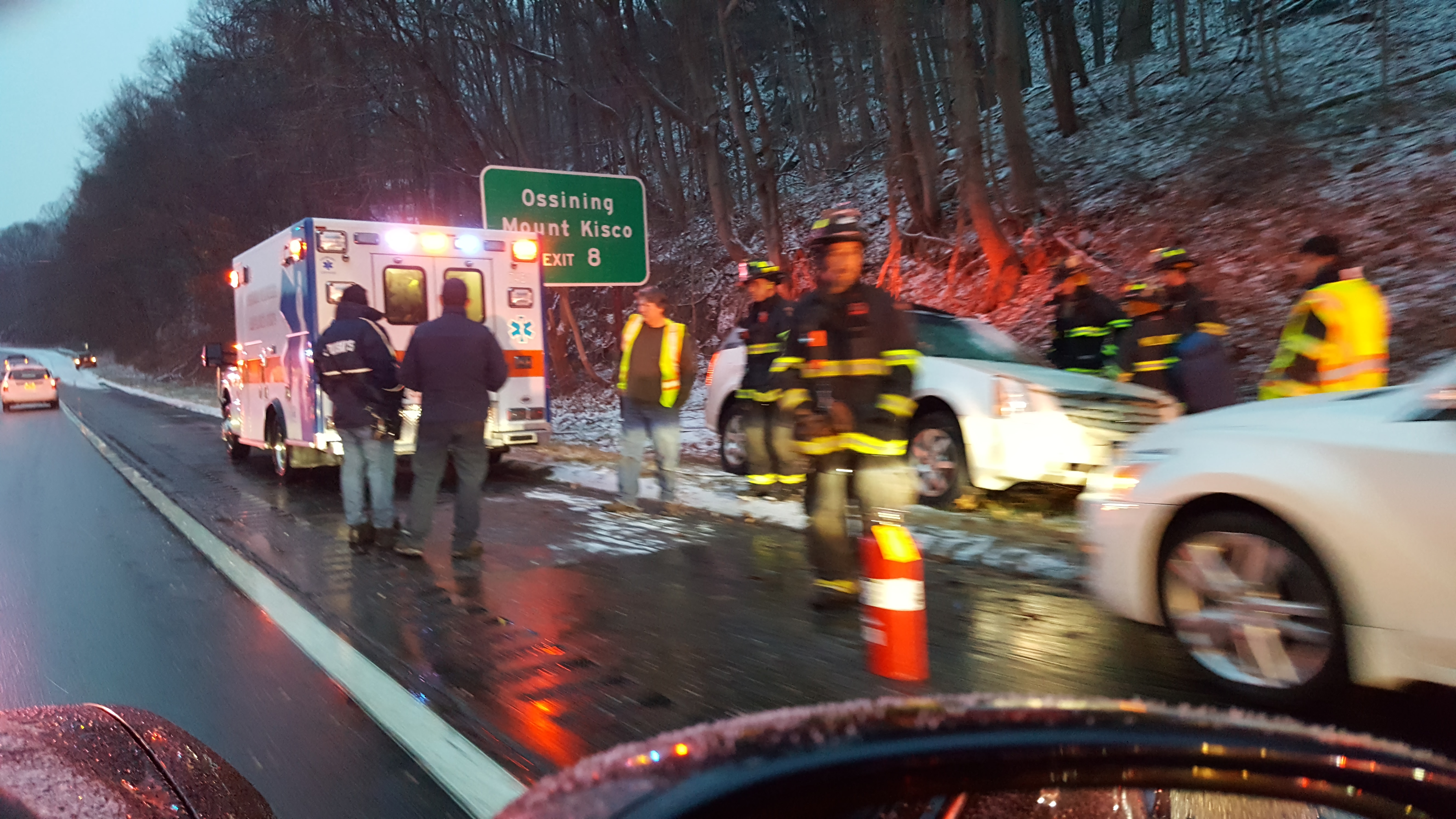 Car accident on the Taconic Parkway