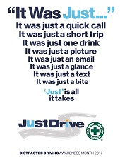diatracted driving accidents prevention poster
