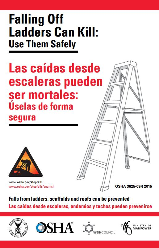 falling from ladders prevention