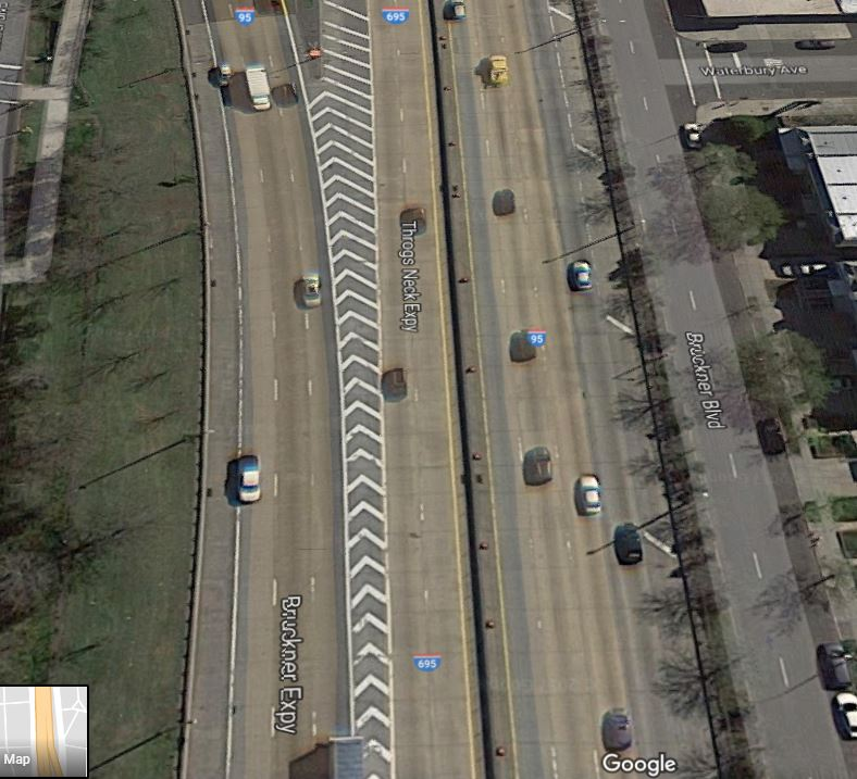 aerial view of drunk driving accident location