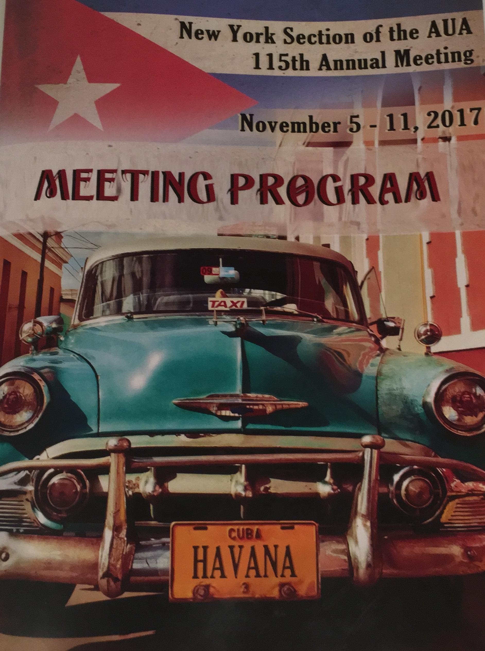 Urological Association Meeting Programm