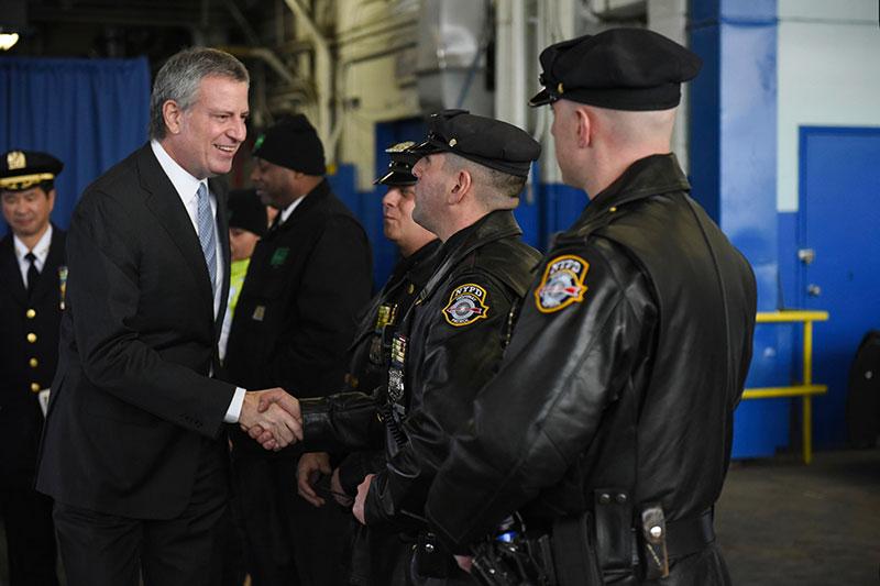 de Blasio Congrats NYPD