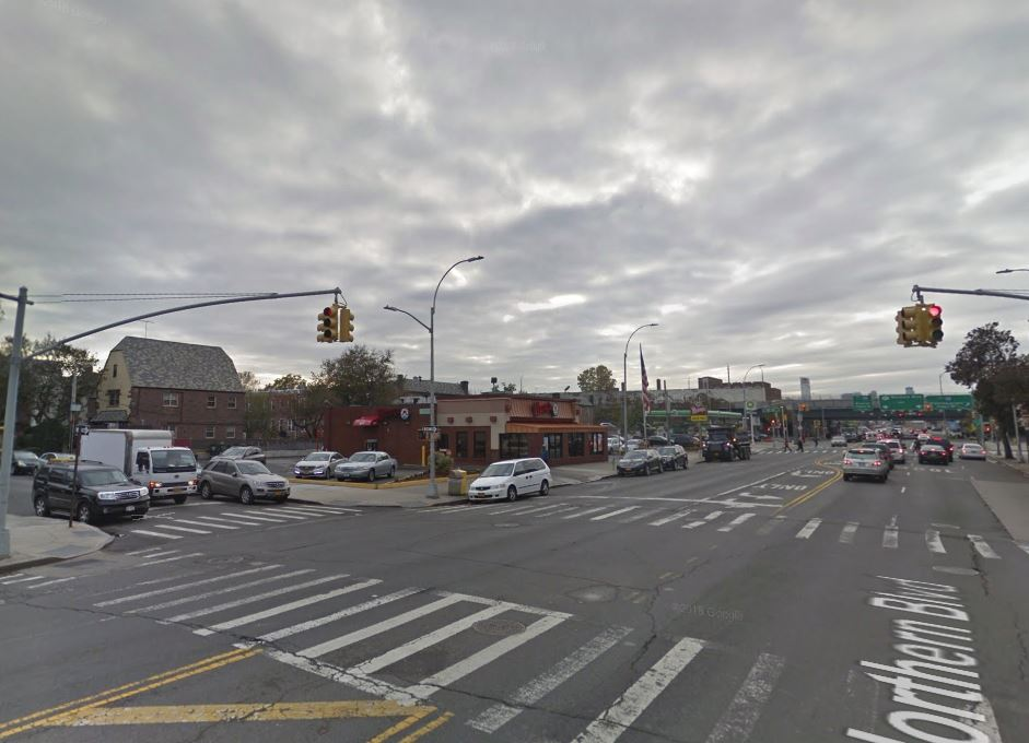 location of the deadly 9 year old pedestrian accident on Northern blvd