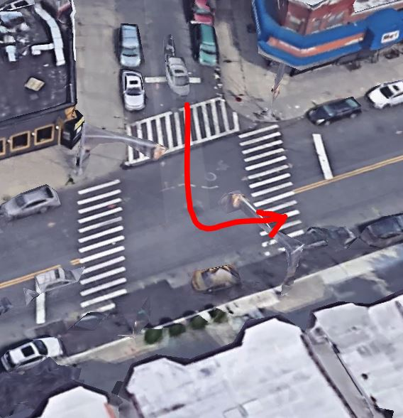 Location of the garbage truck accident in Brooklyn