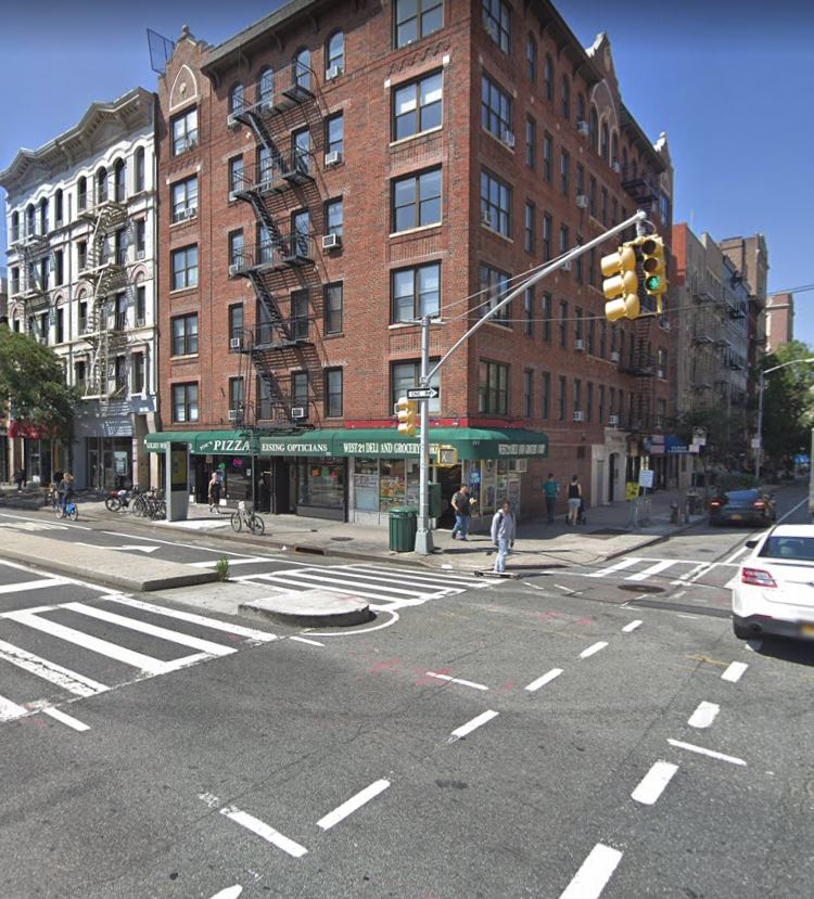 location of the accident between taxi and Uber car NYC