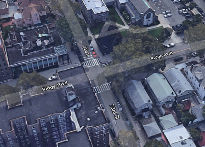 location of the bicycle accident Bay Ridge