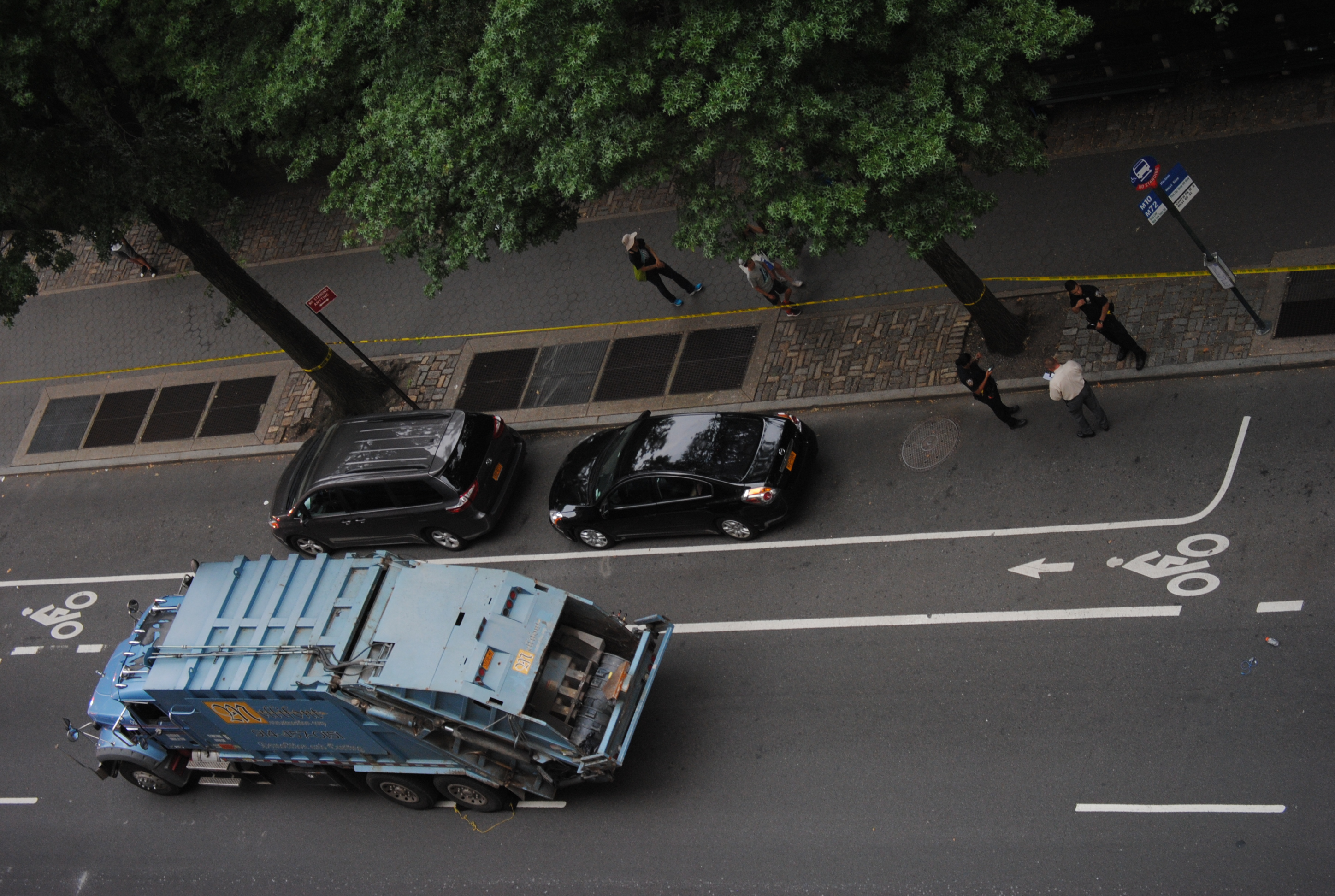 private garbage truck involved in New york fatal bicycle accident