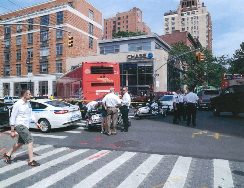 Bus Accident NYPD Highway Patrol