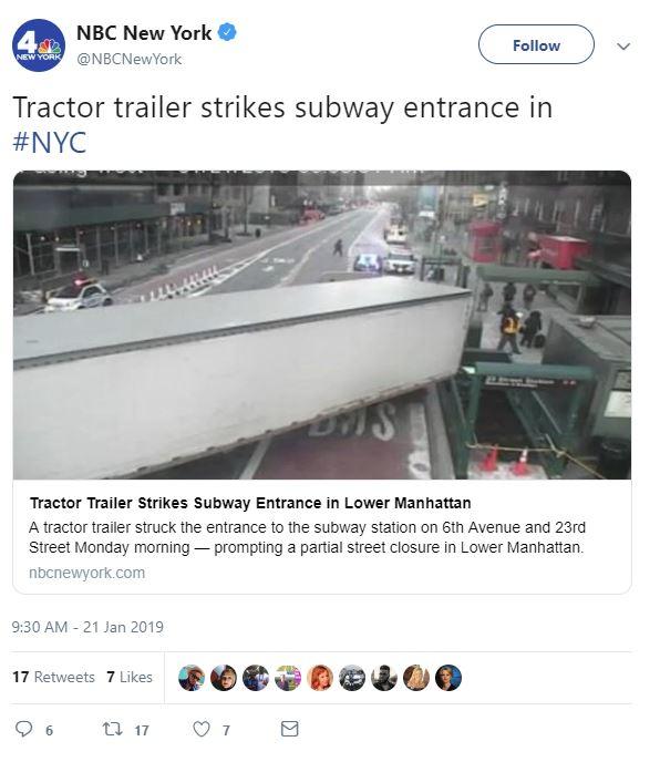 Tractor Trailer Accident Manhattan