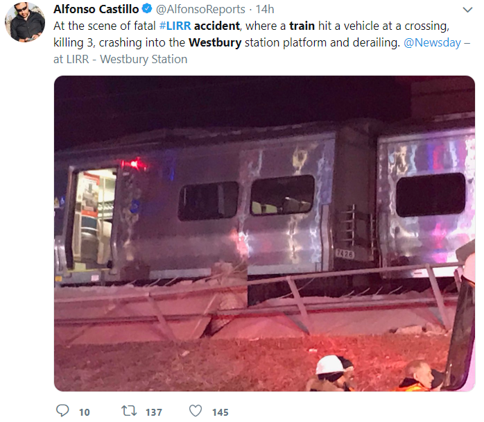 LIRR train Accident NY