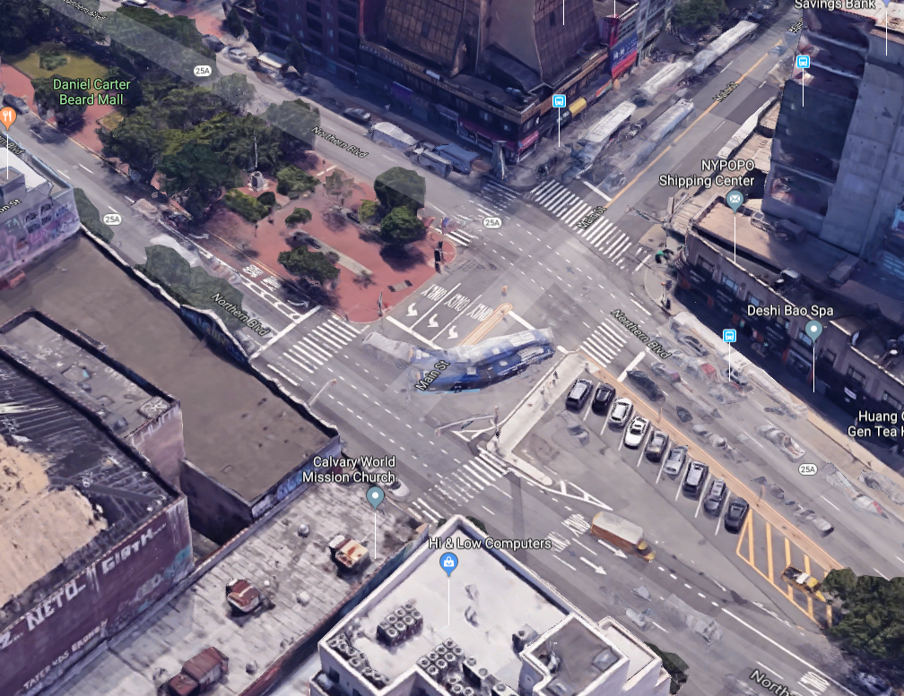 location of deadly NYC bus accident