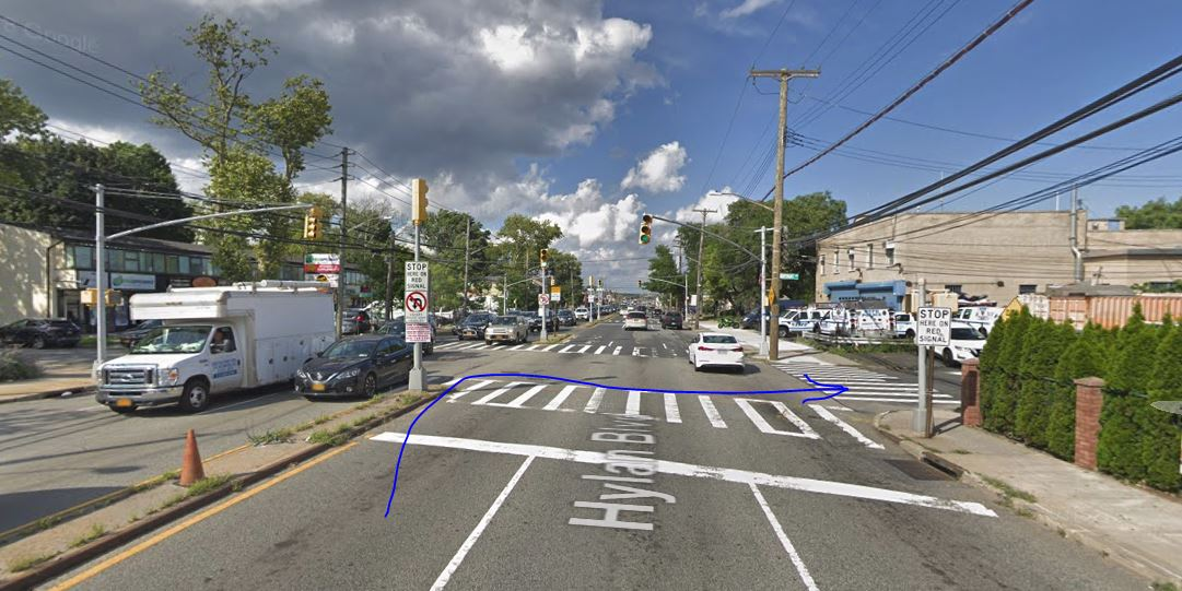 location of the Staten Island car crash