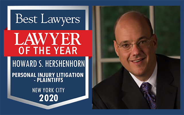 Howard Hershenhorn was named NYC Personal Injury Lawyer of the Year 2020