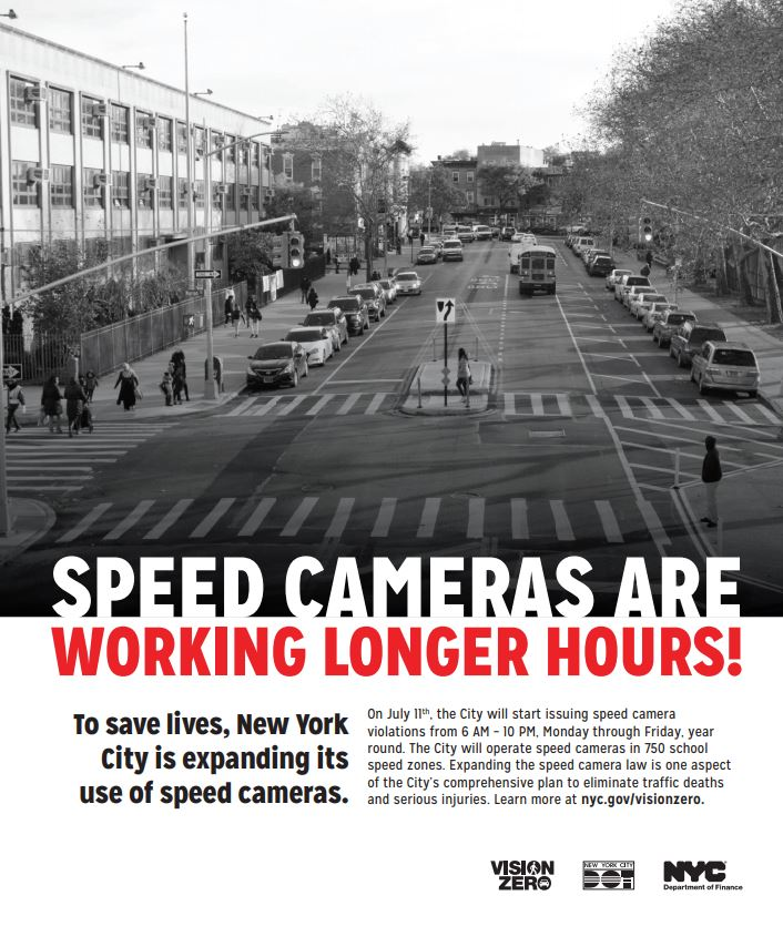 Speed Camera flyer nyc