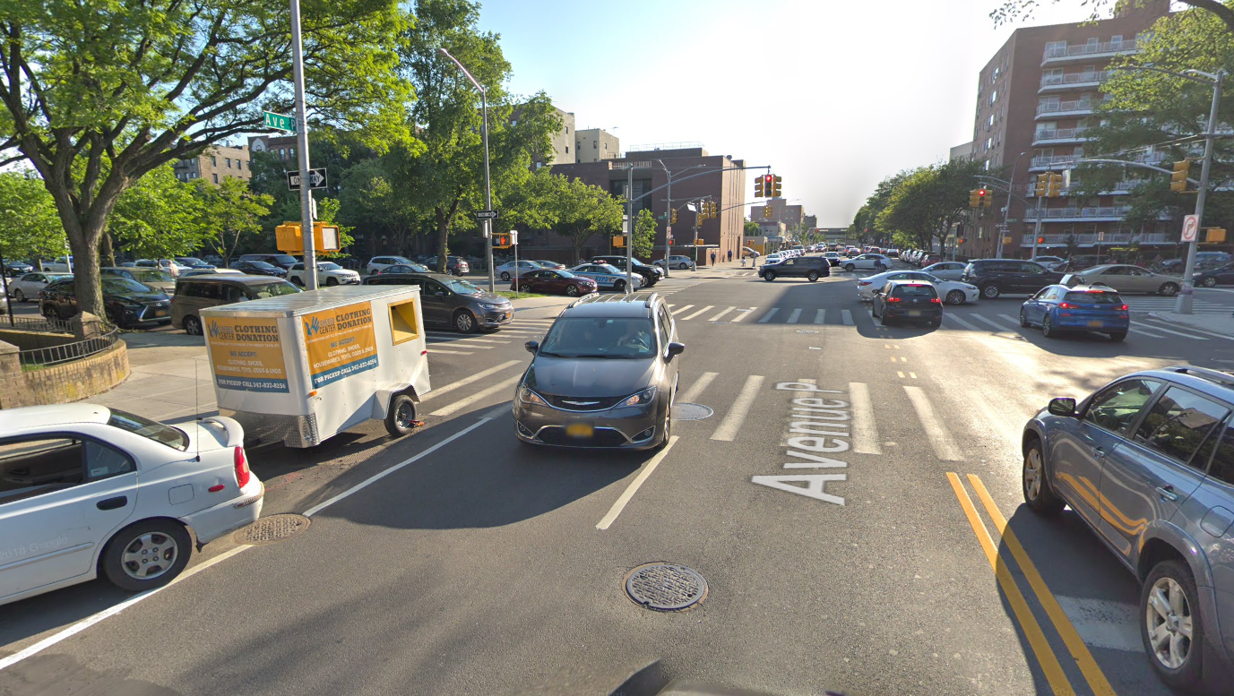 Location of the fatal bicycle accident