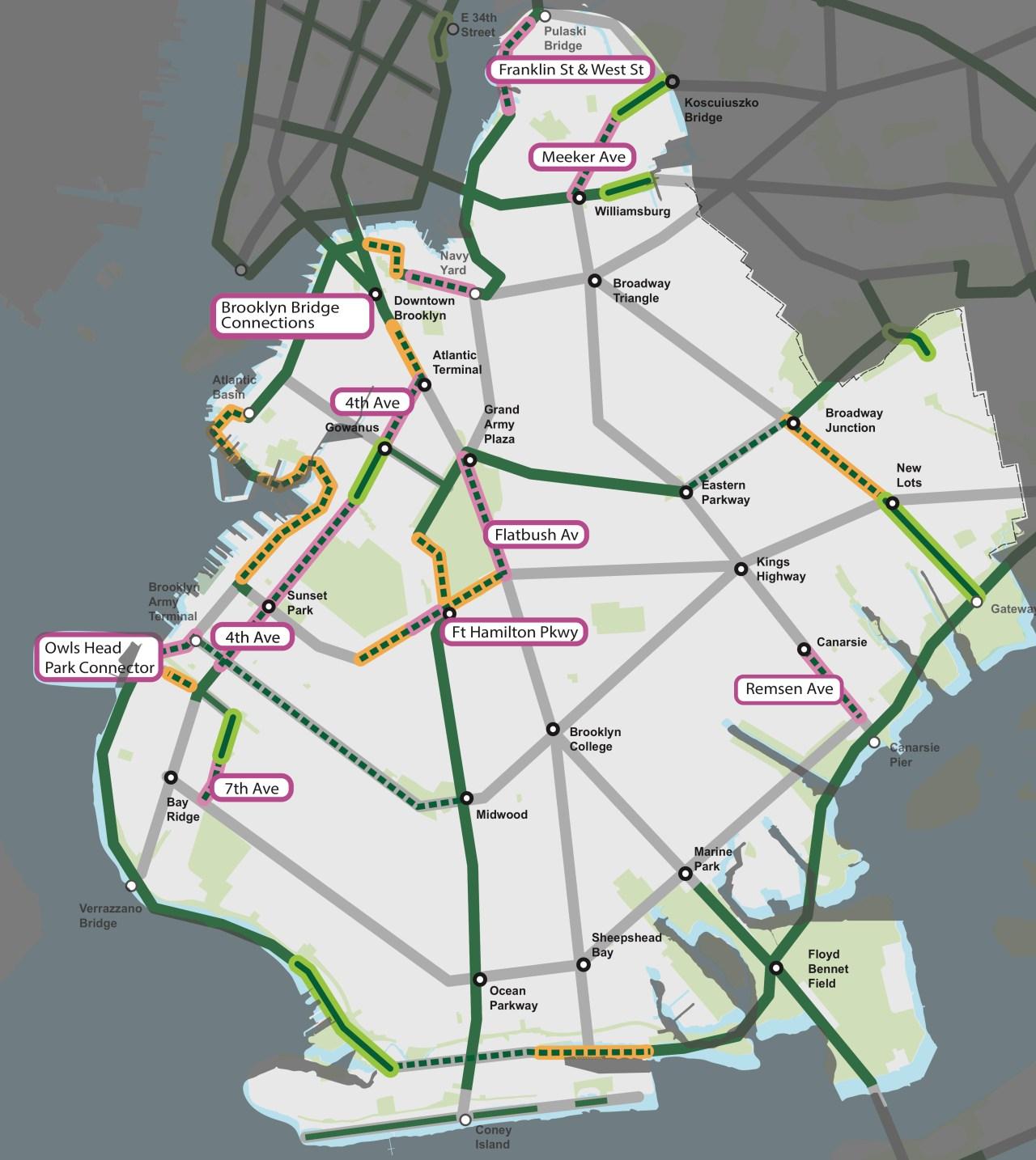 DOT-Protected-bike-lane-Brooklyn