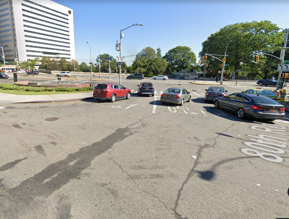 Location of the Accident on Queens Blvd