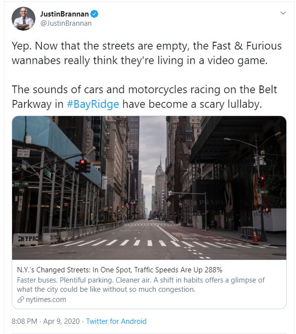 speeding problems in NYC