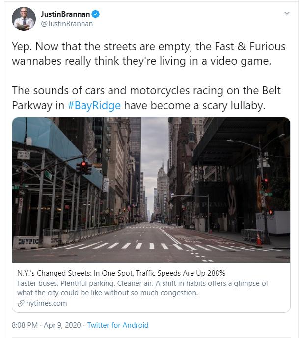 speeding problems in NYC