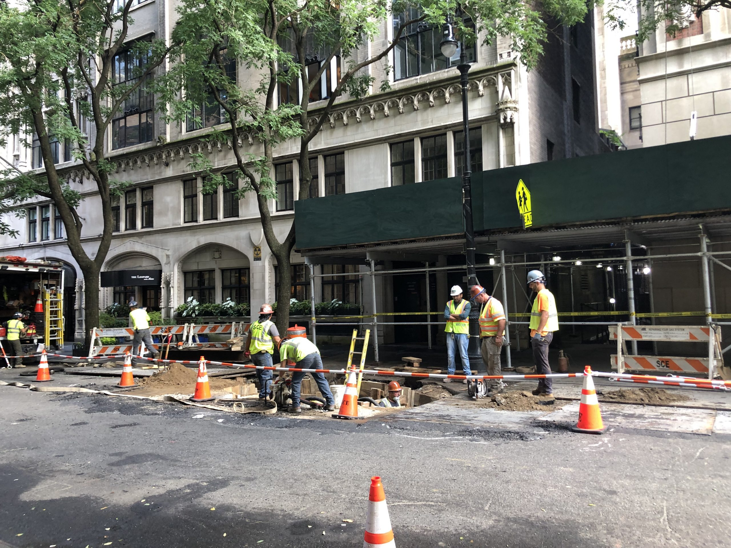excavation work in NYC streets