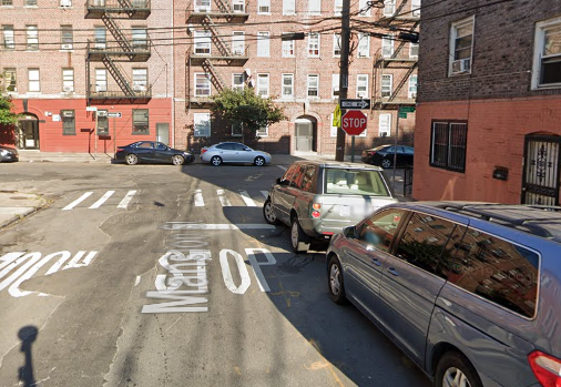 location of the pedestrian fatality Bronx NYC