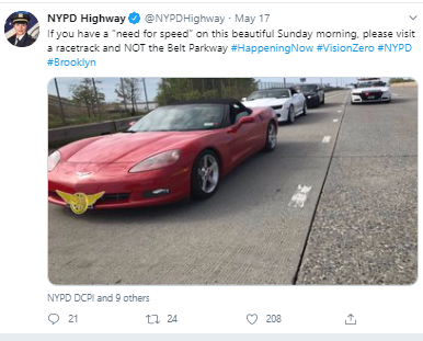 twitter NYPD highway