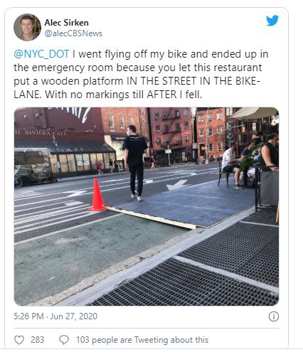 twitter cyclist injured