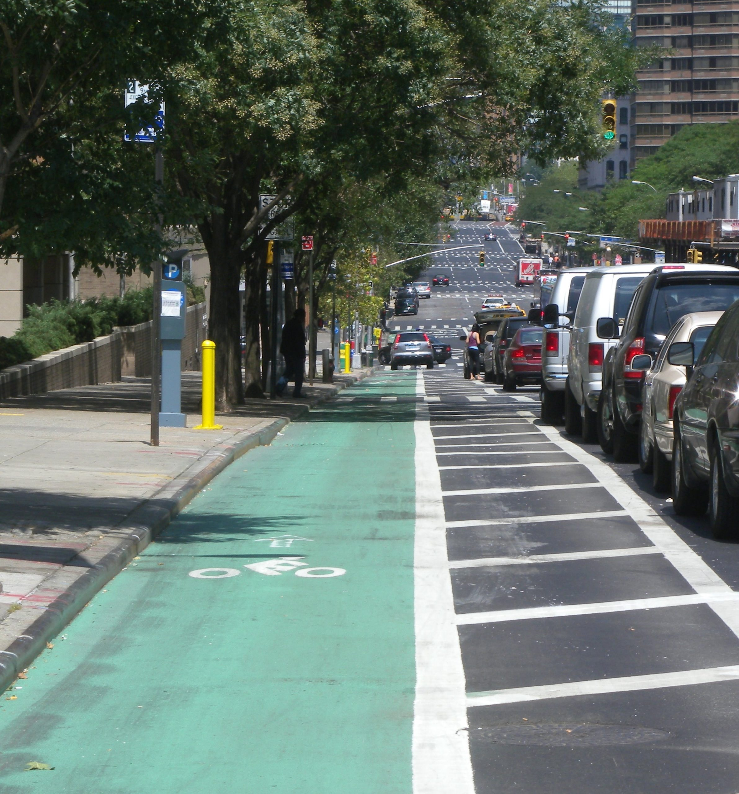 protected bike lane saves lives