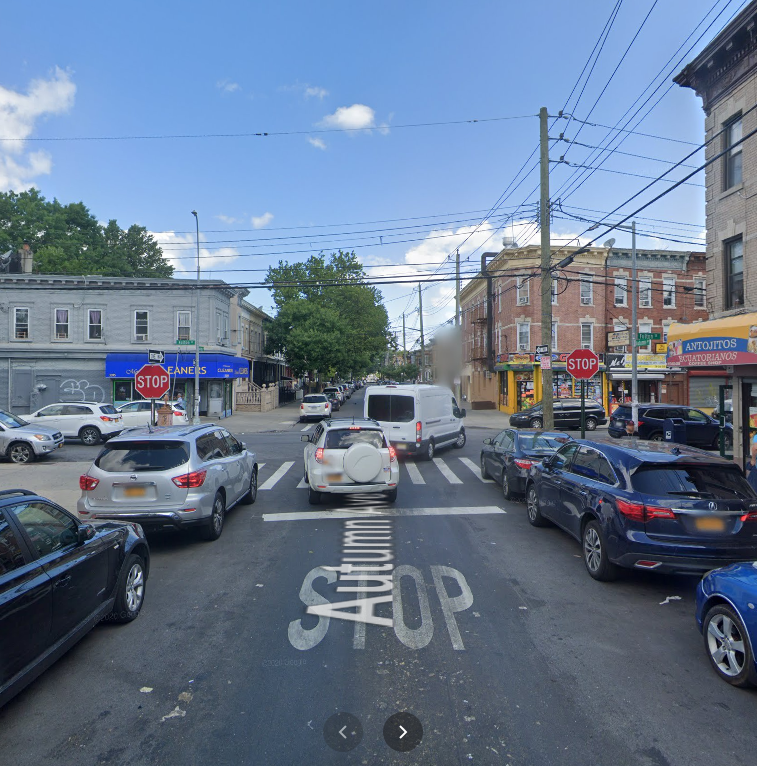 location of the bike collision