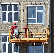 workers on suspended scaffold