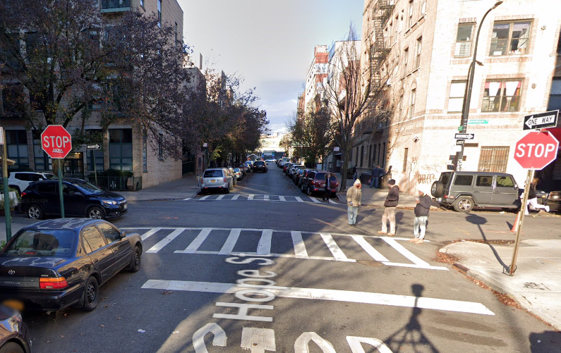 Location of the fatal pedestrian accident in Brooklyn, NYC