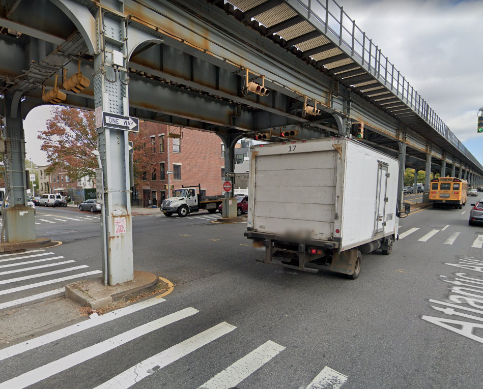 location of the deadly Maserati crash in Brooklyn NYC