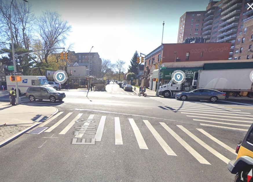 location of the dump truck accident in Brooklyn, NYC